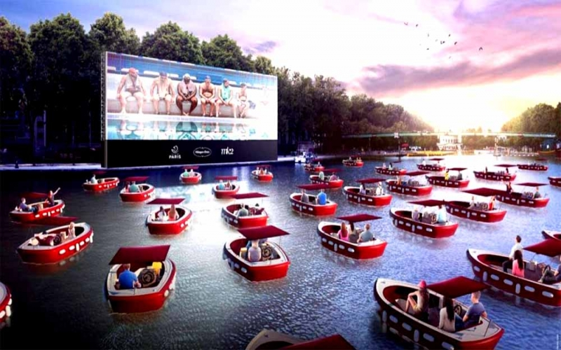 Paris terá sessão de cinema no lago artificial Bassin de la Villette